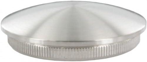 Endkappe leicht gewölbt (dünn), massiv, für Rohr ø 42,4 x 2,6mm, zum Einschlagen