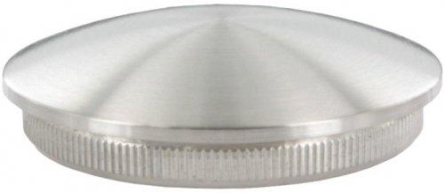 Endkappe leicht gewölbt (dünn), massiv, für Rohr ø 60,3 x 2,0mm, zum Einschlagen für Rohr ø 60 edelstahlonline24