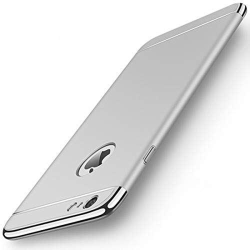 Shenzkeji Hard Case for Apple iPhone 6 Plus and iPhone 6s Plus, Scratch-Resistant, Anti-Fingerprints, No-Fade, Easy to Install and Remove(5.5 Inch, Silver)