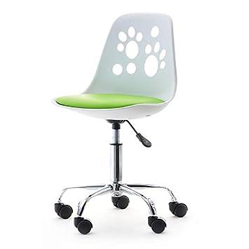 Foot - Silla Giratoria Ajustable Moderna para Niños (White ...