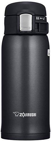 ZOJIRUSHI Termo Bebidas, Acero Inoxidable, Negro Brillo, 6 5x7x17 5 cm
