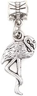 It's All About...You! Flamingo Dangling European Bead Charm 91T