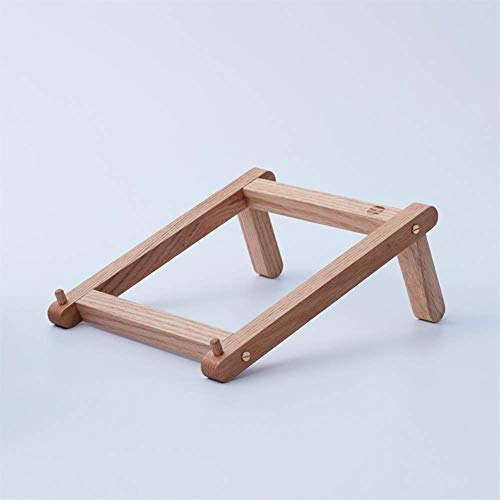 GWFVA HAKN Laptop Stand, Solid Wood Portable Support Heat Sink Detachable Cervical Protection Creative Base (Color : Oak)