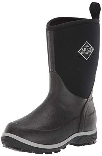 Muck Boot Unisex Element Knee High Boot, Black, Youth 1 Regular US Big Kid