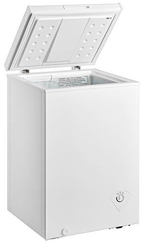 midea WHS-129C1 Single Door Chest Freezer, 3.5 Cubic Feet, White