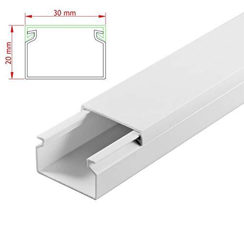 SCOS Smartcosat AVC-119 25m Kabelkanal Weiß Selbstklebend 25x 100cm 30x20mm Deckenkanal Besteehend aus Unterteil und Oberteil zur Montage direkt auf der Wand B07NLSH1RN | Grüne, neue Technologie