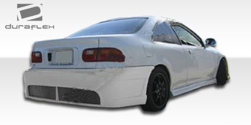 Duraflex Replacement for 1992-1995 Honda Civic 2dr / 4DR JDM Buddy Rear Bumper Cover - 1 Piece