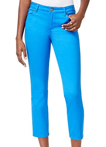 KUT from the Kloth Womens Reese Straight Leg Colored Ankle Pants Blue 12