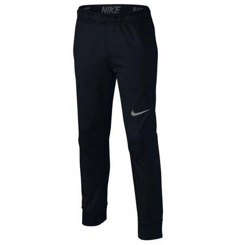 Nike Boy's Therma Big Kids' Training Pants (Large, Black/Dark Steel Grey) (3 Pack) by NIKE