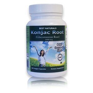 Meilleur Naturals Konjac Glucomannan Racine Racine, 2000 Mg, 360 Capsules Veggie