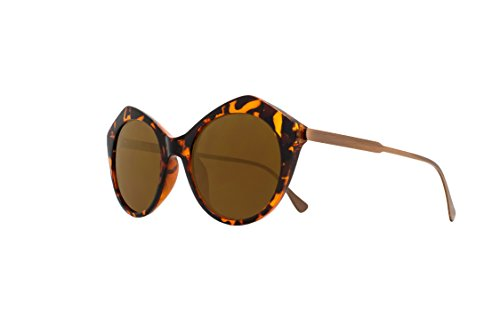 Joes Jeans Women's Jj 6032 Geometric Fashion Round Sunglasses, Tortoise, 145 - Jeans Joe's Sunglasses