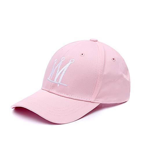 (Solid Crown Baseball Cap for Men Women Snapback Lover Hip Hop Hat Sun Dad Hat Bone Gorras,Pink)