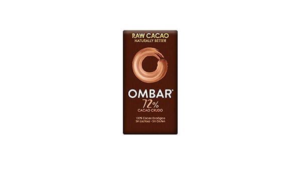 Ombar, Chocolatina Ecológica 72% Cacao -Pack de 5 unidades de 35 gr: Amazon.es: Alimentación y bebidas