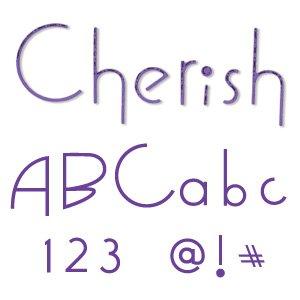 Sizzix 654546 Sizzlits Alphabet Set of 35 Dies - Cherish by Stu -