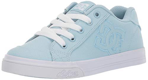 DC Girls' Chelsea TX Sneaker Powder Blue 2 M M US Little Kid