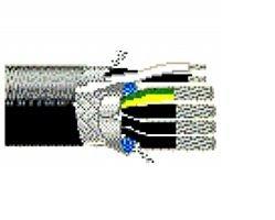 29513 75FT 10/16 AWG 4/2C Overall Foil/TC Braid 85% Composite Flexible Motor Supply VFD Cable UL Type TC-ER - PVC - 1000V - Black - Belden by Belden