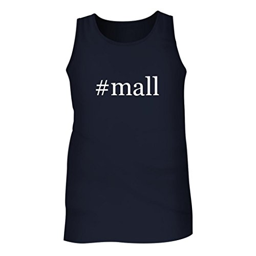 #Mall - Men's Hashtag Adult Tank Top, Navy, - Dolphin Outlet Mall