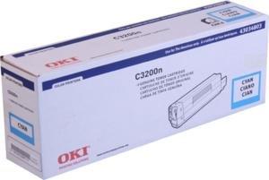 Oki C3200 Series Cyan Toner, 1500 Yield - Genuine Orginal OEM toner