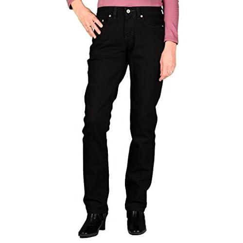 Dickies Womens Curvy Fit Stretch Straight-Leg Jean