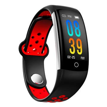 Q6 0.96inch IP68 Blood Pressure Heart Rate Monitor Fitness Tracker Bluetooth Smart Wristband - Smart Watch & Band Smart Wristband - (Red) ()