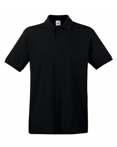 Herren Fruit of the Loom Premium Poloshirt Tshirt, 13 tshirt Farben-KOSTENLOSE LIEFERUNG S,Black