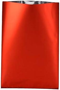 Emballage cadeau rouge m/étallis/é 10x15 cm x50