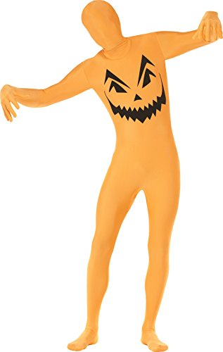 Smiffys Men's Pumpkin Second Skin Costume