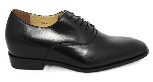 Zerimar Scarpe con Aumentato Interno di 7 cmStile Elegante Realizzata in Pelle di Alta Qualità 100% Pelle Colore Nero Taille 42