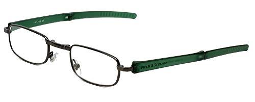 (Field & Stream Designer Folding Reading Glasses RFL1 in Gunmetal & Green 49mm)