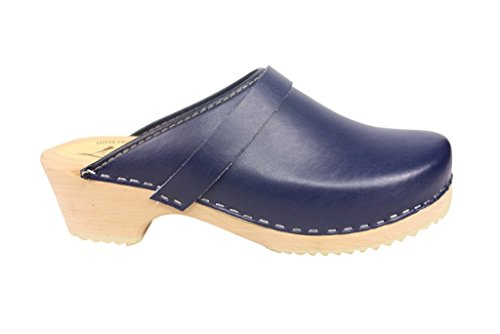 Image of Lotta From Stockholm Swedish Clogs :Classic Clog in Blue Leather