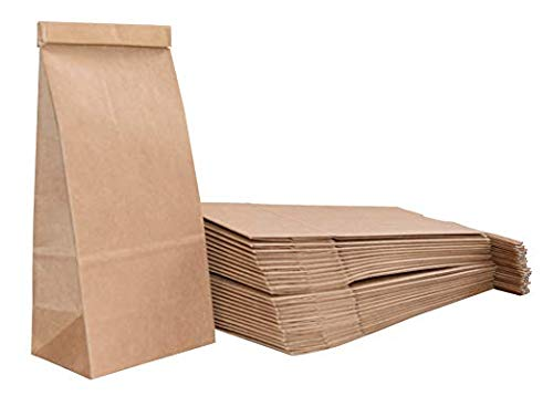1/2 Pound Kraft Tin-Tie Paper Bags - 150 Count - Brown (2 Day -