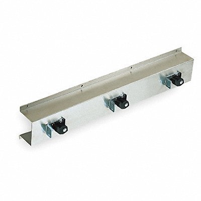 Tough Guy 1ECL4 Mop and Broom Rack, 26 In