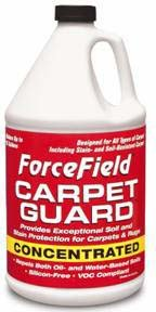 ForceField Carpet Guard Concentrated 1 gallon Shield Industries F CGC G01C