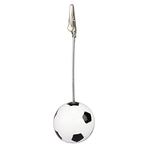 5Pcs Sport Game Ball Stand Alligator Wire Memo Photo Clip Holder,Table Place Card Holder,Sport Event Display,Wedding Party Favor Fusheng (Soccer ()