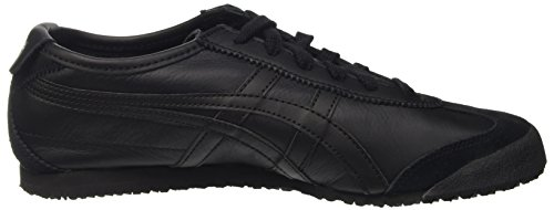 Tiger Onitsuka black Mixte Mexico 66 black Baskets Asics Adulte Noir 9090 C5qadC