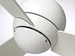 Emerson Ceiling Fans CF130WW Tilo Modern Low Profile/Hugger Indoor Outdoor Ceiling Fan, Damp Rated, 30-Inch Blades, Light Kit Adaptable, Appliance White Finish
