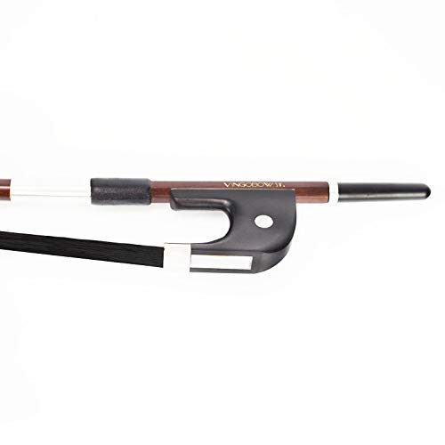 VingoBow 1/2 Size GERMAN UPRIGHT DOUBLE Bass Bow! BLACK Natural Mongolia Horsehair Art No.300BGB.21