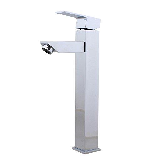 ANNTYE Waschtischarmatur Bad Mischbatterie Badarmatur Waschbecken Messing Bohrung kaltes und Heißes Wasser Badezimmer Waschtischmischer