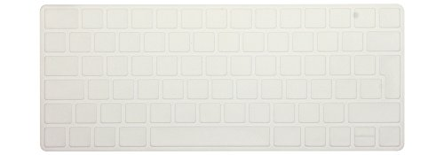 HRH Spanish Language Silicone Keyboard Cover Skin for Apple Magic Wireless Bluetooth Keyboard MLA22LL/A (A1644,2015 Released) European ISO Layout,Clear no Letter
