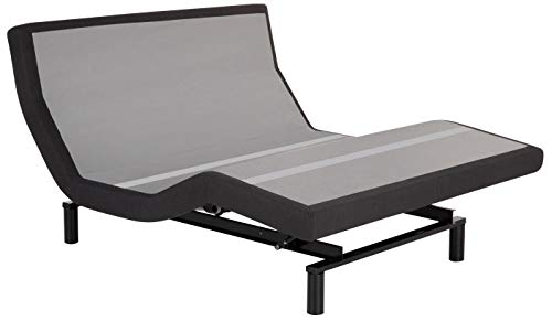 Leggett & Platt Prodigy 2.0 Base, Wireless, Wall Hugger, Massage, Pillow Tilt, Bluetooth Adjustable Bed, Queen, Dark Grey