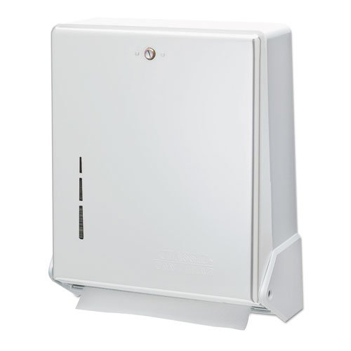 San Jamar - True Fold Metal Front Cabinet Towel Dispenser 11 5/8 X 5 X 14 1/2 White