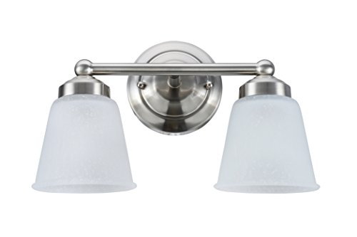 Aspen Creative 62013-1, Two-Light Metal Bathroom Vanity Wall Light Fixture, 13 1/2
