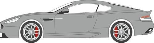 Aston Db9 Coupe Martin (Aston Martin Db9 Coupe, Metallic-light Blue, Rhd, 0, Model Car, Ready-made,)