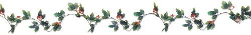 - Beistle 20844 Holly & Berry Garland, 6'