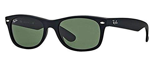 Ray-Ban RB2132 (622) Black Rubber/G-15XLT 58mm Sunglasses Bundle with original case, cloth, booklet and accessories (6 ()