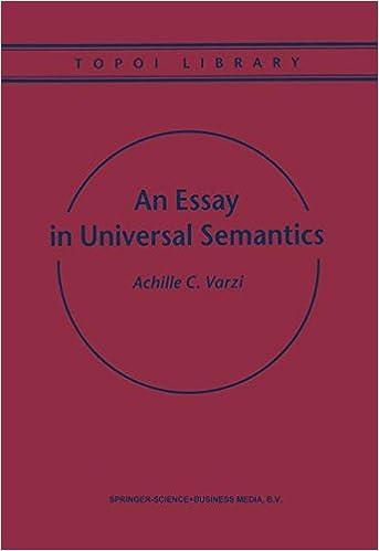 Amazon.com  An Essay in Universal Semantics (Topoi Library ... ecde65390c8
