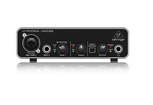 BEHRINGER audio interface (UMC22) (Best Low Latency Audio Interface)