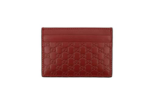 Gucci Microguccissima Signature Leather Card Case Wallet, Rosso (Red)
