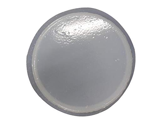 12 in Round Slightly Textured Stepping Stone Concrete Plaster Mold 1037 ()