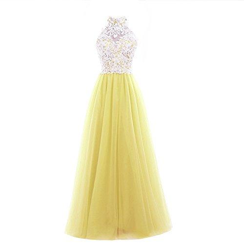 Vestido Vickyben para Plumaje amarillo mujer dTZwqATR